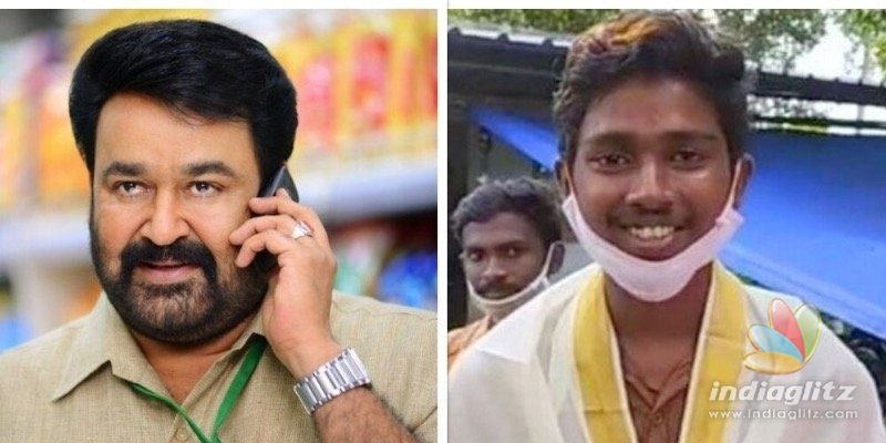 Mohanlal give a surprise call to CBSE Plus Two exam topper