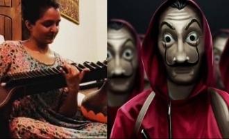 WATCH: Manju Warrier plays 'Money Heist' song on Veena; video VIRAL!