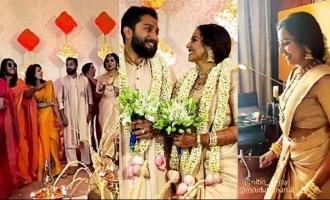 Watch video of Ramya Nambeesan & celebs dancing at Mrudula Murali's wedding