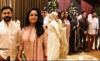 Dileep and Kavya Madhavan attends Nadirsha's daughter engagement; See pics