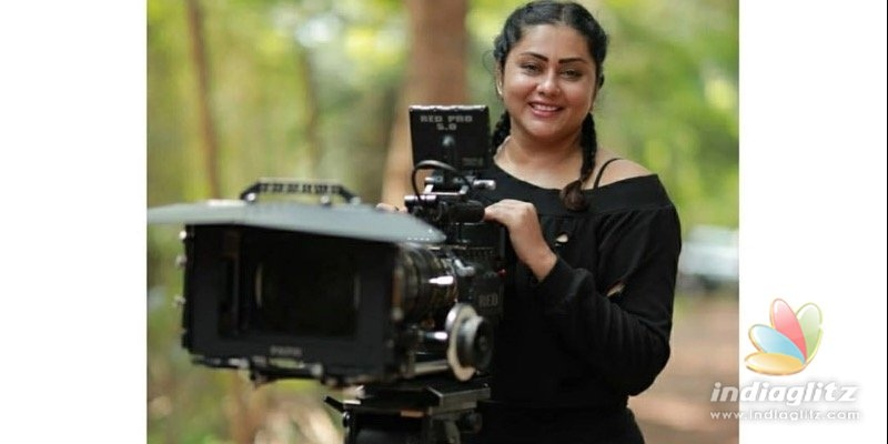 Actress Namitha fell into a well while filming