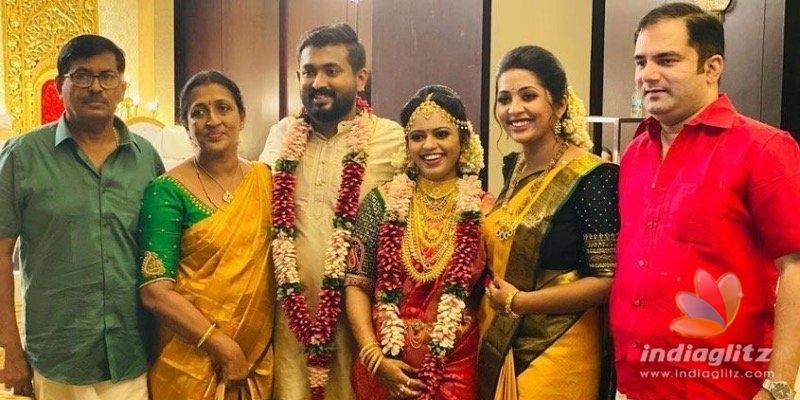 See Pics: Navya Nairs brother Rahul enters wedlock!