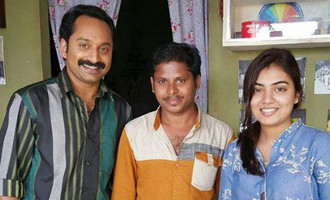 Nazriya accompanies Fahadh for 'Maheshinte Prathikaram'