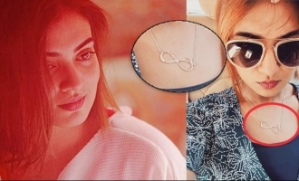 What's written on Nazriya's new pendant? Curious fans!