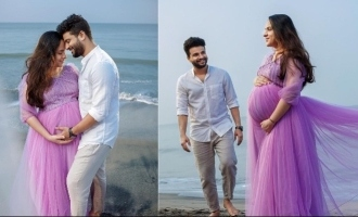 New daddy Neeraj Madhav shares pictures of maternity photoshoot