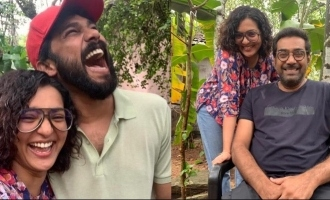 Actress Parvathy shares a happy picture with Biju Menon