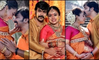 Pearle Maaney shares pics from her 'Valakapu' ceremony