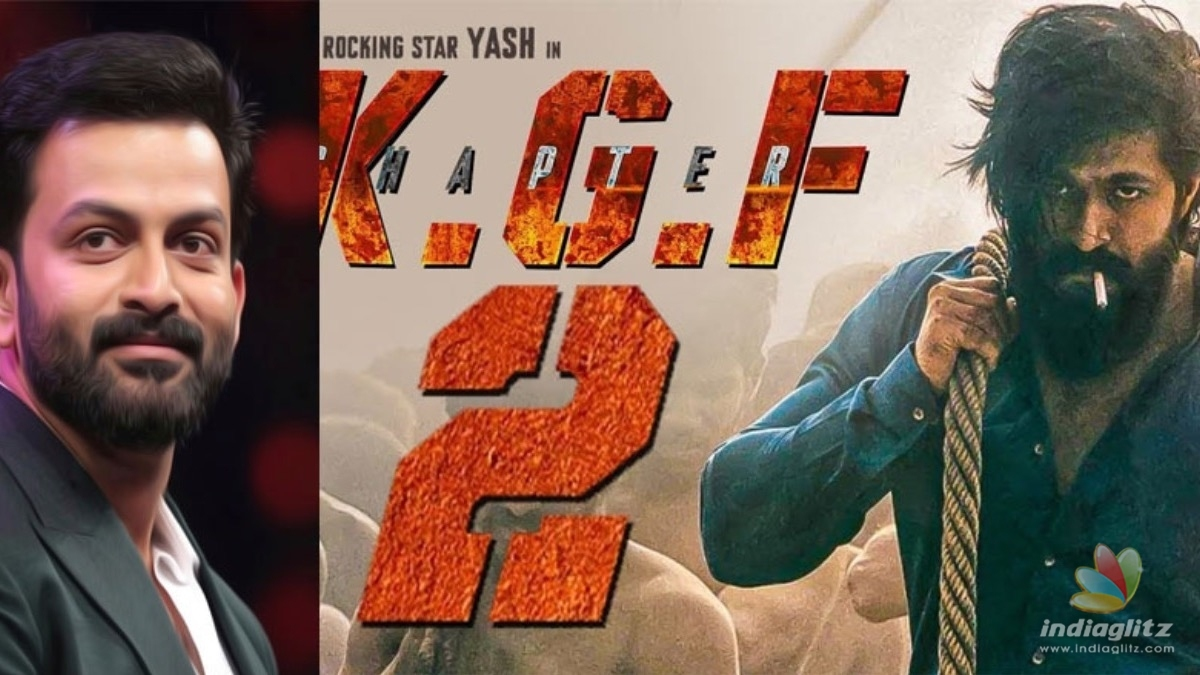 KGF 2: Actor Prithviraj makes a HUGE announcement