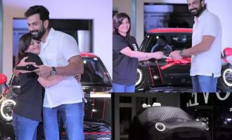 Prithviraj drives home a luxurious mini cooper