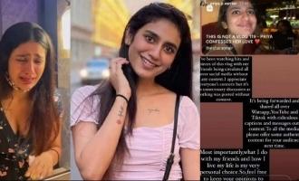 Priya Prakash Varrier lashes out at netizens and media