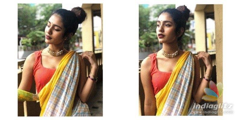 Priya Prakashs saree stills go viral!