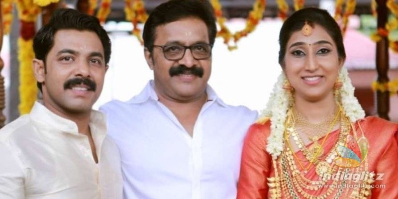 Actor Renji Panickers son Nikhil gets married