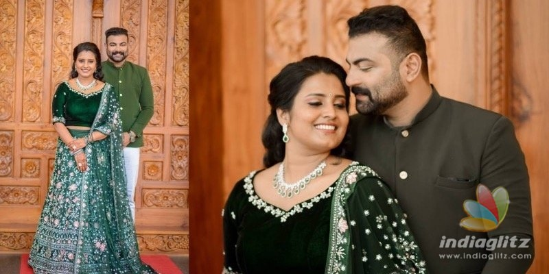 In pics: Oru Adaar Love actress Roshna gets engaged to actor Kichu Tellus