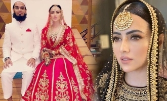 Actress Sana Khan enters wedlock