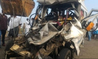 7 vehicles collide in a major road mishap