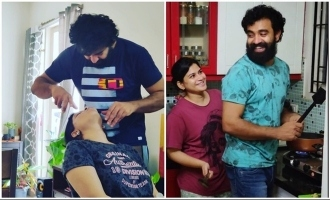Quarantine effect: This Premam actor shapes his wife's eyebrows