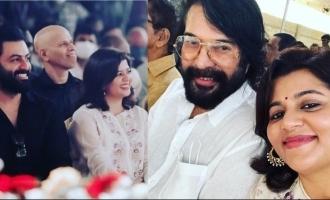 Mammootty's selfie with Prithviraj's wife Supriya goes VIRAL!
