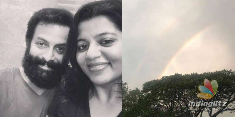Waiting for Prithvi to return, Supriyas hopeful post of a double rainbow