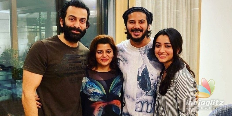 Dulquer Salmaan celebrates birthday with Prithviraj & family!