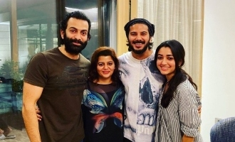 Dulquer Salmaan celebrates birthday with Prithviraj & family!