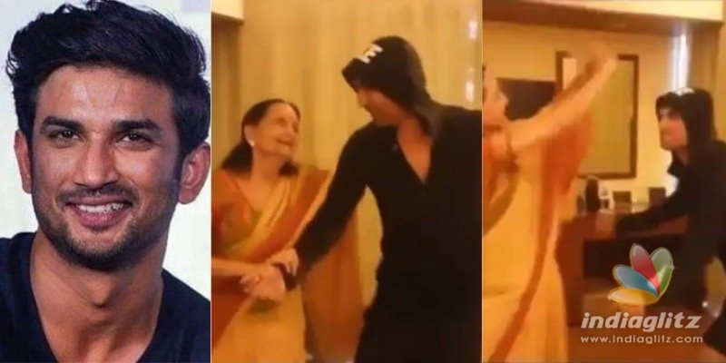 WATCH: Sushants happy dance with popular old actress