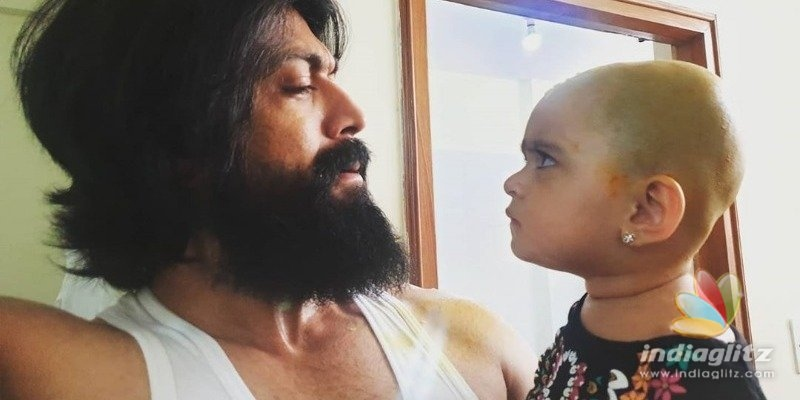 KGF Yashs daughter looks mad at him, Check out why!