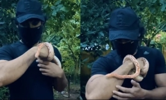 VIRAL VIDEO: Tovino Tomas plays with a snake