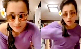 Trisha's latest dance video goes viral