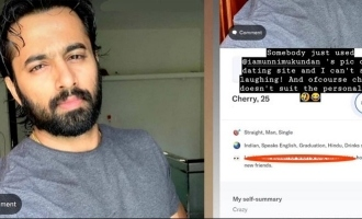 Unni Mukundan's angry post; says NO to selfies
