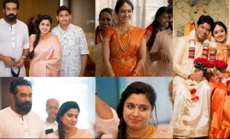 Celeb couple Samyuktha and Biju Menon shine at Utthara Unni's wedding