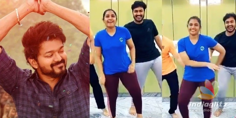 Vaathi Coming: Vijay fans celebrate this serial actress dance video!