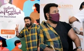 Mohanlal takes the first shot of COVID-19 vaccine
