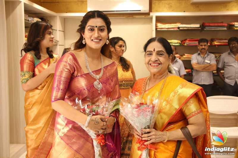 Celebrities at AA Guru Silks Shop Launch