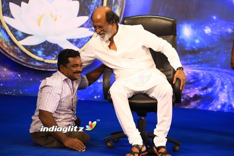 Superstar Rajinikanth At Fans Meet - Day 2