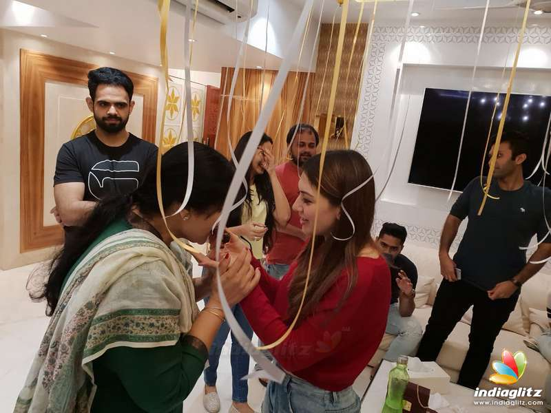 Hansika Celebrating her birthday with family and friends