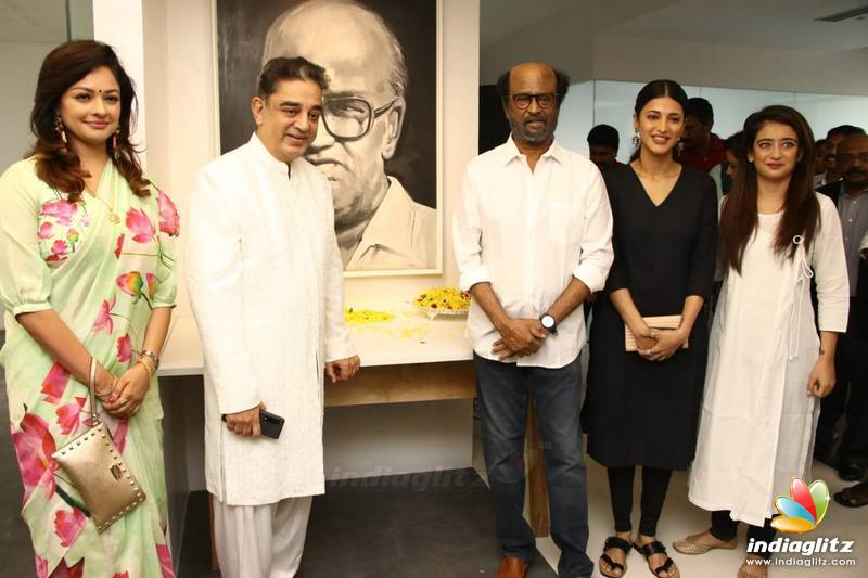 Kamal, Rajini & Mani Ratnam at the unveiling of K Balachander's statue