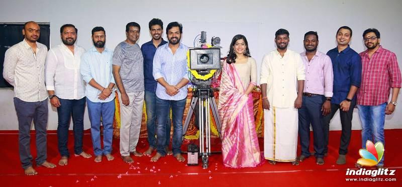 Karthi - Rashmika's New Movie Pooja