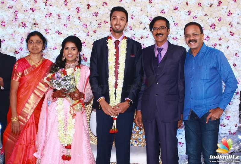 Mano Bala Son Harish - Priya Wedding Reception Stills