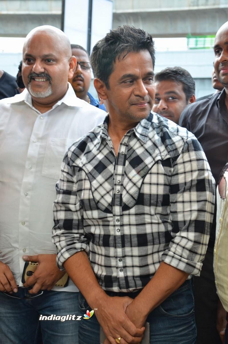 Arjun and Varalaxmi at PVR Cinemas Launch