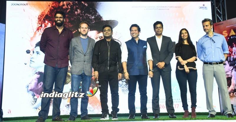 AR Rahman & Sachin Tendulkar at the launch of Sachin Sachin Song