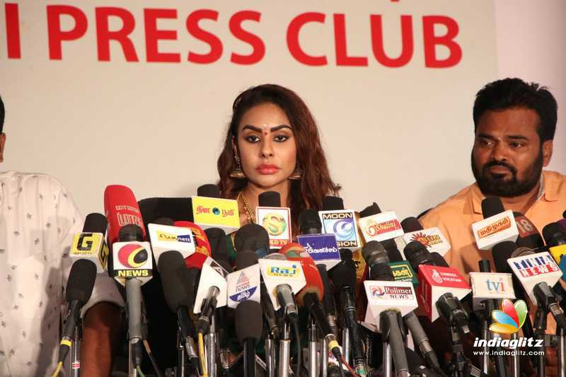 Actress Sri Reddy Press meet