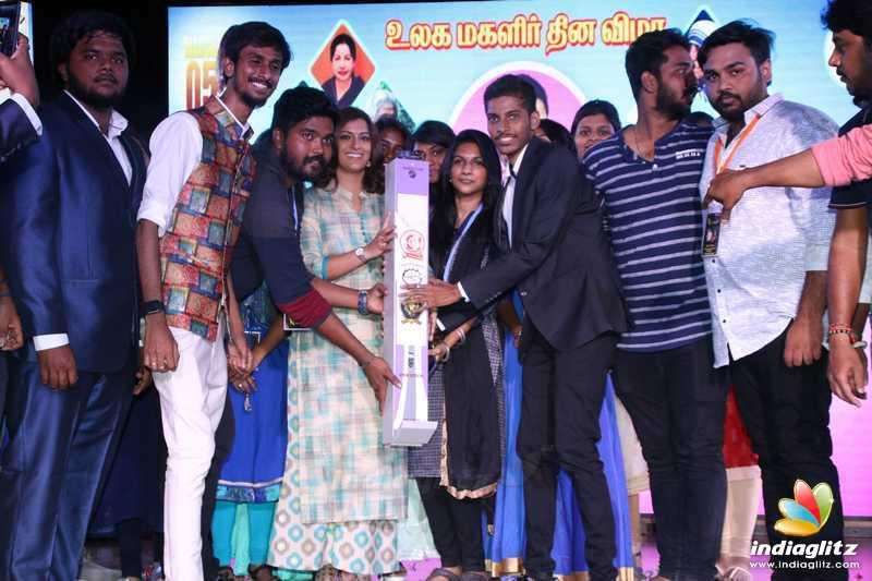 Varalaxmi Sarathkumar at DG Vaishnav College