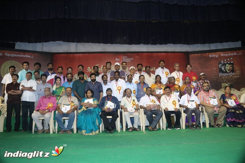 Vijay Sethupathi and SP Jananathan at Ulagayutha Foundation