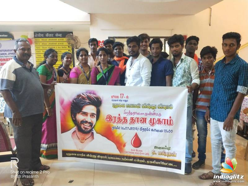 Vishnu Vishal Fans Celebrated Birthday By Donating Blood