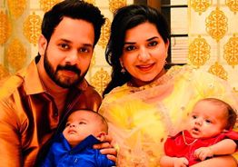 Bharath's twin babies photos go viral