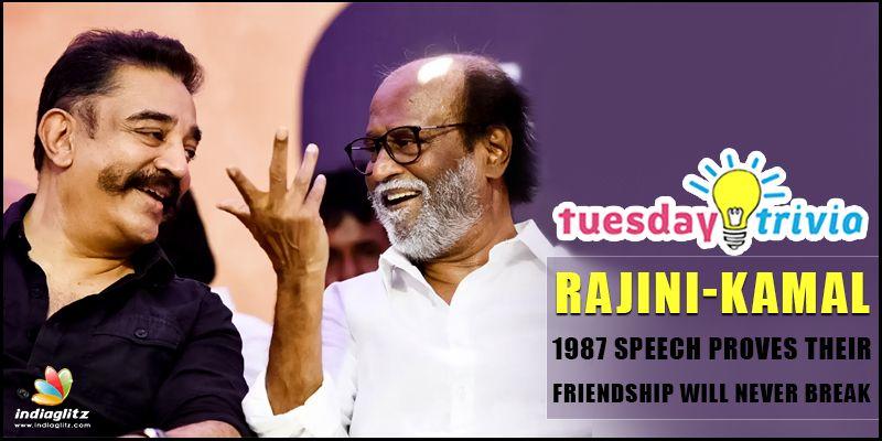 Throwback Thursday ! Rajini-Kamal 1987 speech proves their