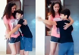 Ajith heroine does this to make son happy - cute video turns viral!