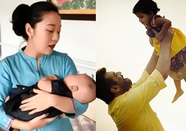 Chinese TV anchor singing Kannana Kanney as lullaby for her baby video is heartwarming