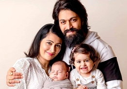 CUTE! KGF Yash's little daughter tries to get her baby brother to sleep in viral video