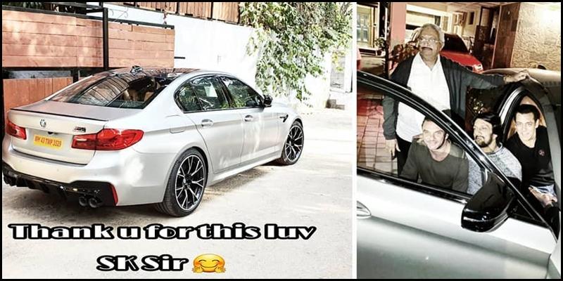 Salman Khan Surprises Dabangg 3 Co-Star Kichcha Sudeep With A BMW M5